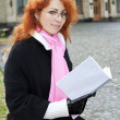 Red haired girl — Stockfoto #10608427