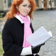 Red haired meisje — Stockfoto