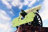 Cannon monument — Stock Photo