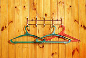 Clothes hangers — Stok fotoğraf