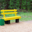 Royalty-Free Stock Photo: Yellow bench