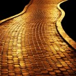 Golden path — Stock Photo
