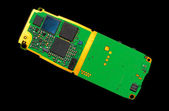 Circuit board of a cell phone — Stock Photo