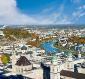 View over old town in Salzburg — Stock Photo
