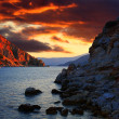 Cloudy sunset in Marmaris - Stock Photo