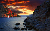 Cloudy sunset in Marmaris — Stock Photo