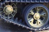 Tank caterpillar track — Stock Photo