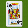 Play Card Club King — Stock Photo
