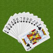 Play Card Clubs — Stock Photo