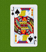 Play Card Spade — Stock Photo