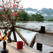 Floating restaurants on river Kwai in Thailand — Photo #10043796