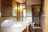 Bamboo bedroom — Stock Photo
