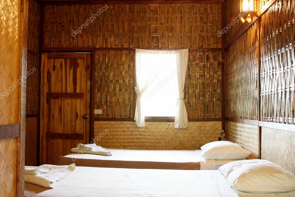 Bamboo bedroom — Stock Photo #10043558