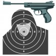 Firearm, the gun against the target. vector — Stock Photo #10228490
