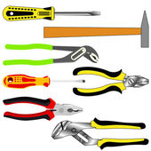 Vector set of different tools — Stock Photo