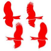 Eagle symbols and tattoo, vector illustration. — Stock Photo