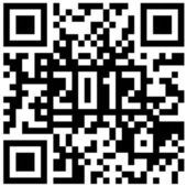 2012 New Year counter, QR code vector. — Stock Photo