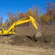 Yellow backhoe — Stock Photo #8112515