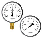 The gas manometer — Stock Photo