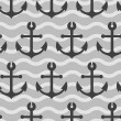 Seamless wallpaper with sea anchors - Stock Photo