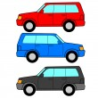Set of vector icons - transportation symbols. — Stock Photo