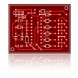 Stock Photo: Vector abstract circuit board
