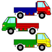 Set of vector icons - transportation symbols. — Stock Photo