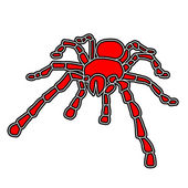 Tattoo of black widow isolated on white background. — Stock Photo