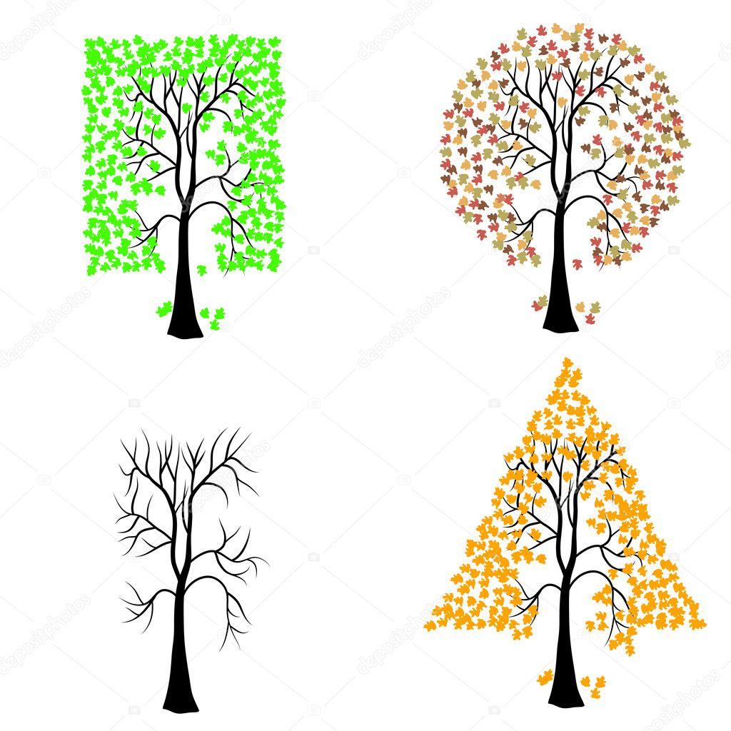 Рисунки геометрических деревьев