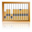 Old wooden abacus close up — Stock Photo