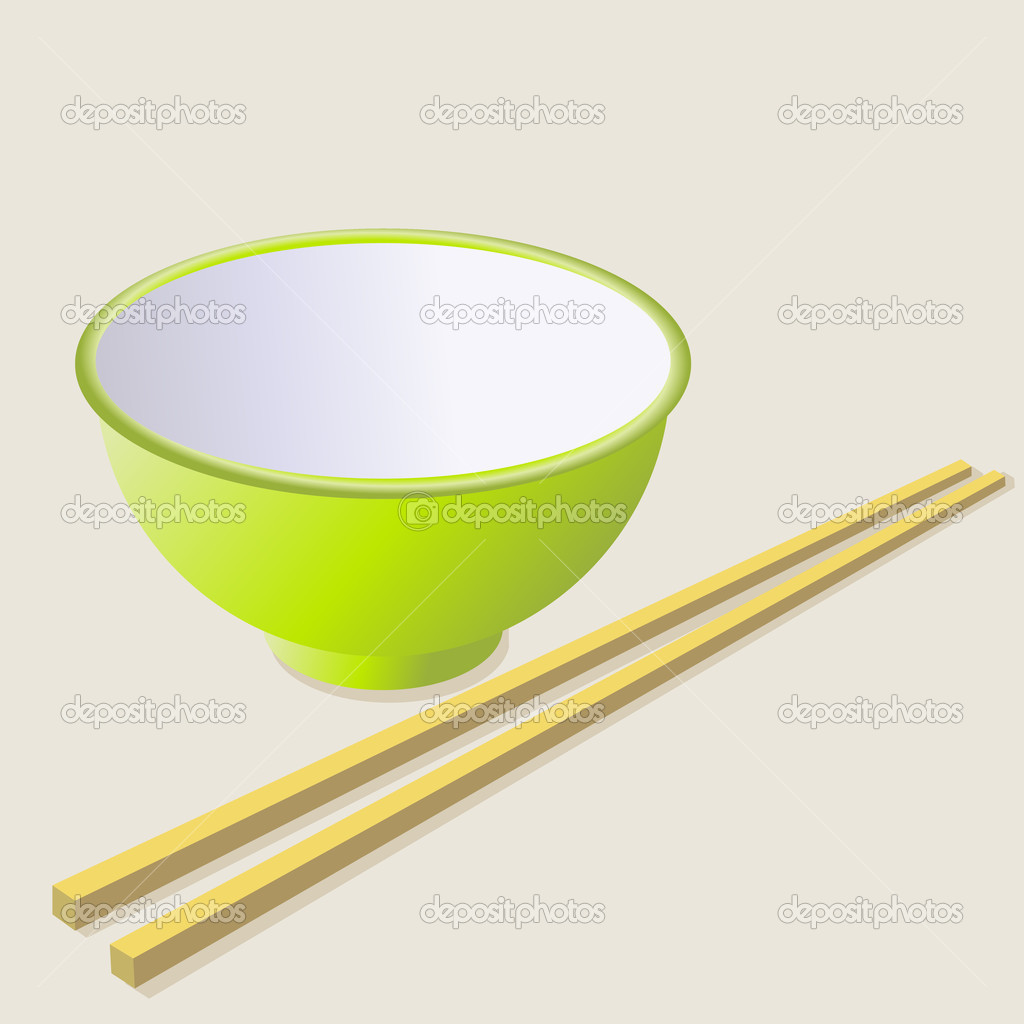 Ceramic mug with wooden sticks. Vector illustration. — Stock Photo #9219817