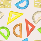 Seamless wallpaper the ruler and protractor line of the triangle — Stock Photo