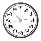 Clock of icons of — Stock Photo