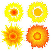 Set of suns. Elements for design. — Stock Photo