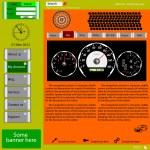 Template web site about automotive topics. — Stock Photo