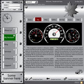 Template web site about automotive topics. — ストック写真