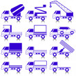Set of vector icons - transportation symbols. — Stock Photo #9679615