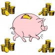 Stock Photo: Pig piggy bank