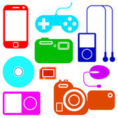 Icon set of electronic gadgets — Stock Photo