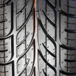 Stock Photo: Tread tires black