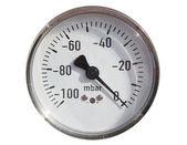 Plynové potrubí a manometrem plyn. — Stock fotografie