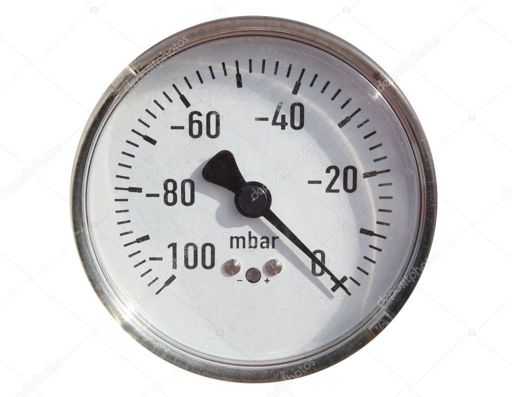 Gas pipeline and manometer gas. — Stock Photo #9751355