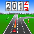 2013 New Year counter, vector. — Stock Photo