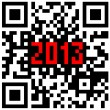 2013 New Year counter, QR code vector. — Stock Photo
