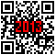 2013 New Year counter, QR code vector. — Foto Stock