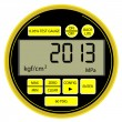 2013 New Year modern digital gas manometer — Stock Photo #9934554