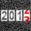 2013 New Year counter, vector. - Stock Photo