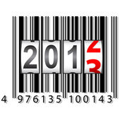 2013-Neujahr-Zähler, Barcode, Vektor. — Stockfoto