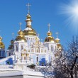 St. Michael's Golden-Domed Monastery - famous church in Kyiv, Uk — Stok fotoğraf