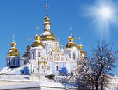 St. Michael's Golden-Domed Monastery - famous church in Kyiv, Uk — Stock Photo